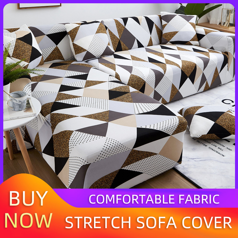 Sofa Covers For Living Room Stretch  Cover Sofa  Combination Geometric Sofa Cover Corner L Shaped Sofa Cover Furniture Covers