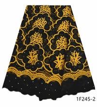 Afrika tül dantel kumaş yüksek kalite afrika fransız taşlar dantel kumaş nijeryalı nakış tül fransız dantel parti için 1F245