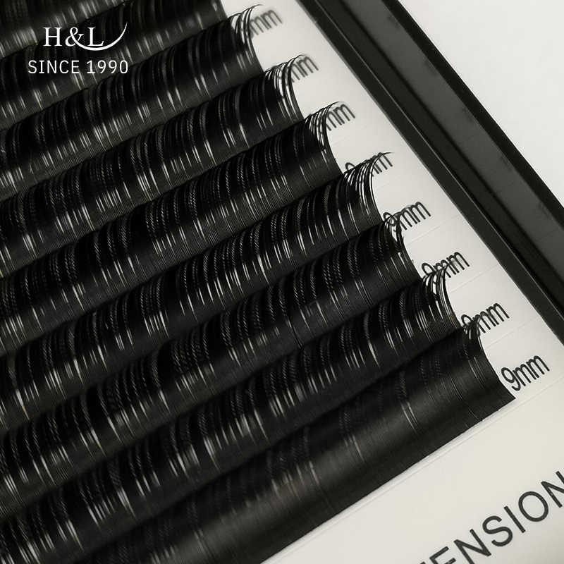 H & L SEIT 1990 16 Reihen Faux nerz einzelne wimper extensions für profis weiche nerz matte lash