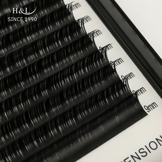H&L SINCE 1990 16Rows Faux mink individual eyelash extensions for professionals soft mink matte lash 4
