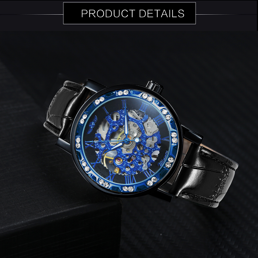 H0d7ebde0d64746f7be95b9a2bc60c3dbI WINNER Fashion Business Mechanical Mens Watches Top Brand Luxury Skeleton Dial Crystal Iced Out Wristwatch Hot Sale Clock 2019