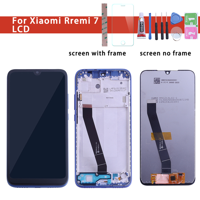 """Original Quality 6.26"""" For Xiaomi Redmi 7 Redmi7 LCD Display With Touch Screen Digitizer Replacement Black Color With Kits