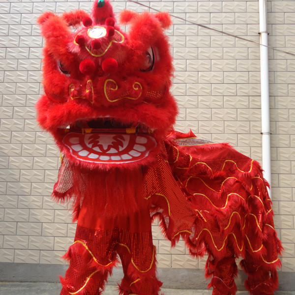 Célébrez les Festivals Lion tenue de danse chinois Lion Costume de danse laine fait à la main accessoires de scène pour les chinois d'outre-mer