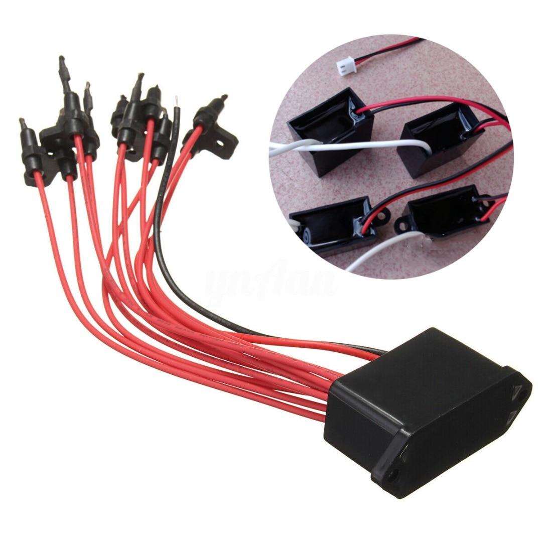 AC 220V Car Air Purifier Negative Ion Anion Generator High Output Air Ionizer Ioniser Airborne DIY Module 10 Carbon Brush Head