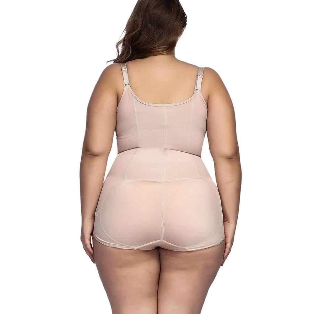Corsé de talla grande 6XL 5XL modelador de cuerpo entrenador de cintura de adelgazamiento Control de abdomen recuperación post parto ropa interior para mujer
