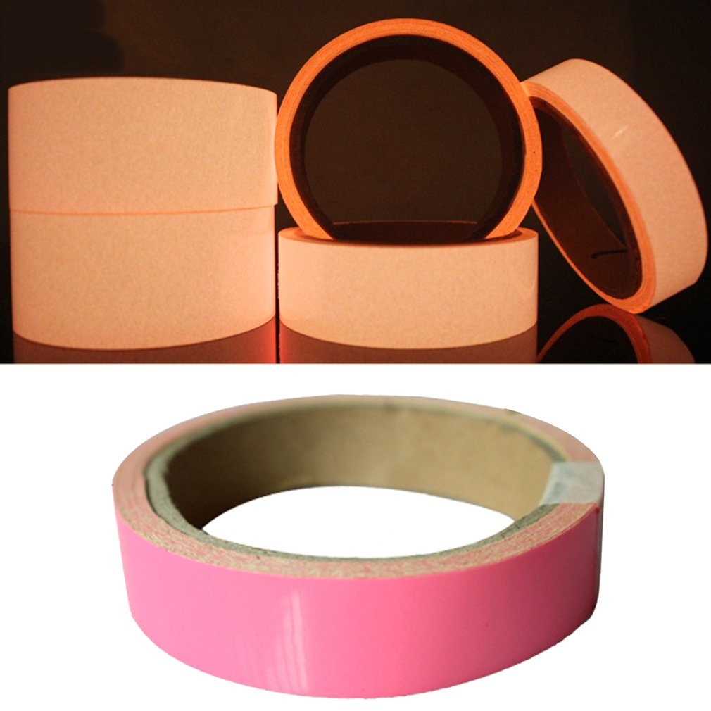 Pink Glow Tape Safety Sticker Removable Luminous Tape Fluorescent Self-adhesive Noctilucent Night Warning Tape Dropshipping