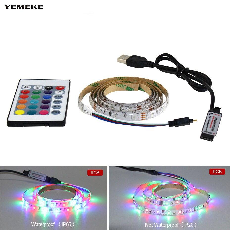 1m 2m 3m 4m 5m Rgb  Led Strips 60leds/m Light 2835SMD LED Ribbon Flexible Light Strip Tape Desktop Cabinet Stairs Decoration D4