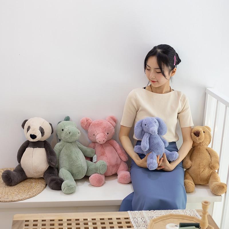 25/30/45cm Schöne Cartoon Tiere Eelphant Dinosaurier Schwein Teddybär Plüsch Spielzeug Baby Kinder Weichen beschwichtigen Puppe Kinder Geschenk