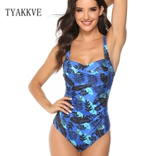 Swimsuit 2019 Sexy One Piece Bikini Plus Size Swimwear Women Print Bathing Suits Monokini Beach Wear Tummy control Swim Suit XXL