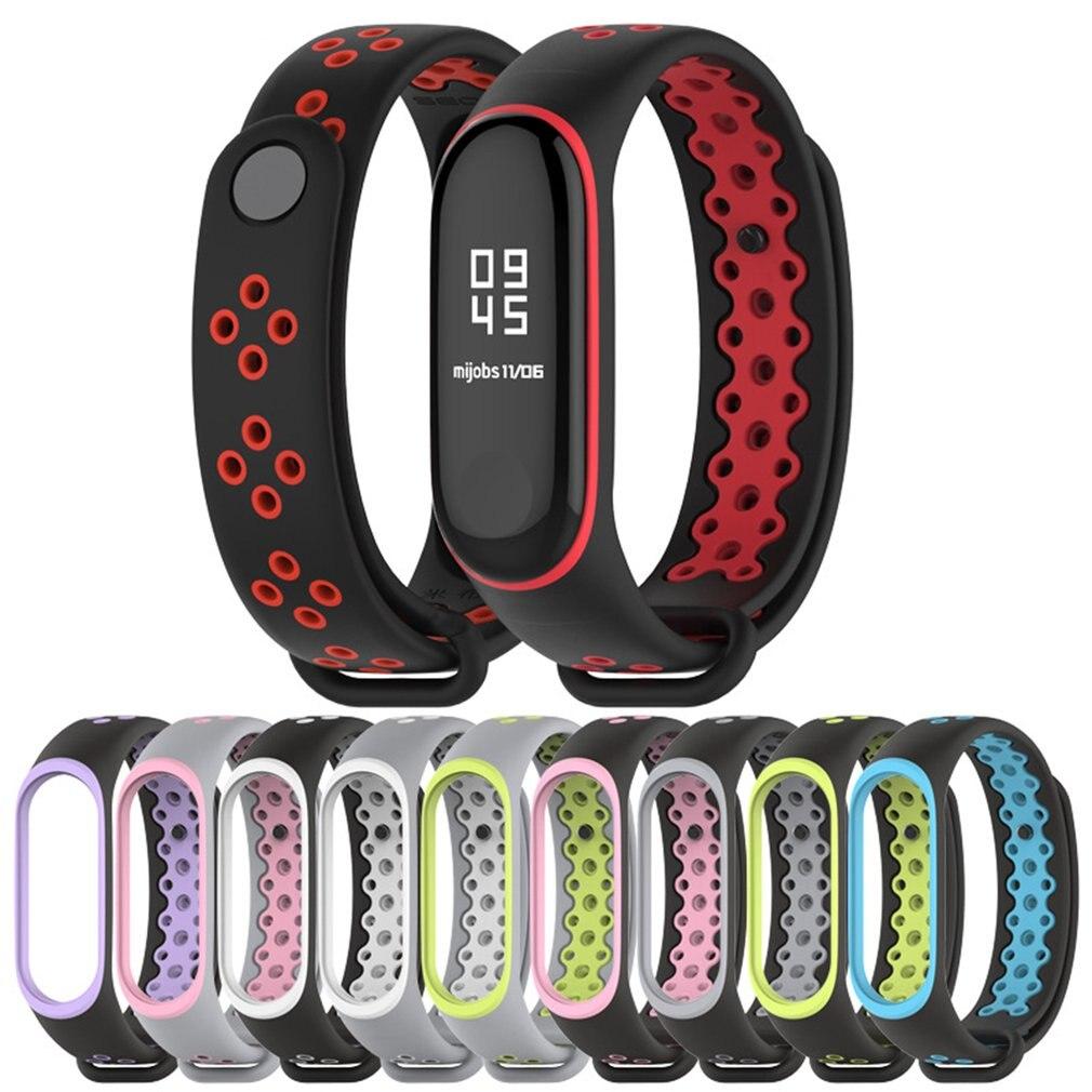 For Mi Band 4 Strap Bracelet Sport Silicone Watch Wrist Strap Accessories Mi Band 3 Bracelet Smart For Xiaomi Mi Band 3 4 Strap