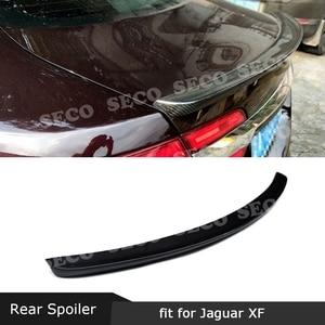 For Jaguar XF X250 XF X260 Sedan 2009-2019 Rear Spoiler Carbon Fiber Trunk Boot Duck Trim Sticker Wings Car Styling(China)