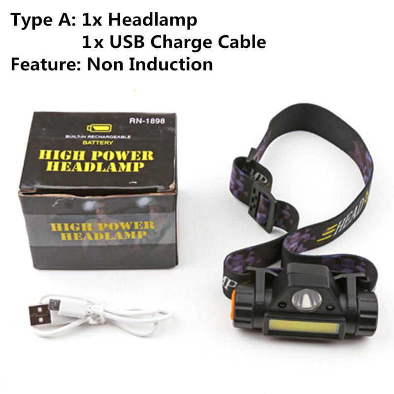 12000LM LED Bright Rechargeable COB Headlamp Headlight Flashlight Torch Powerful LED Headlamp Running Head Light Headlamp