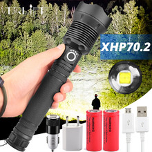 Most Powerful LED Flashlight XLamp XHP70.2 USB Zoomable 3 modes Torch XHP70 XHP50 18650 26650 Rechargeable Battery Flashlight