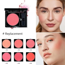 Matte Blush Waterproof Long-lasting Brighten Makeup Easy To Color Blusher Professional Cheek Rouge Makeup Natural Cosmetic