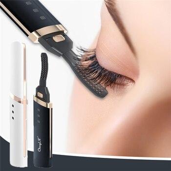 Electric Eyelash Curler Fast Heating Natural Eyelash Curling Iron Temperature Adjustable Makeup Eyelash Curling Pen USB Charging 1