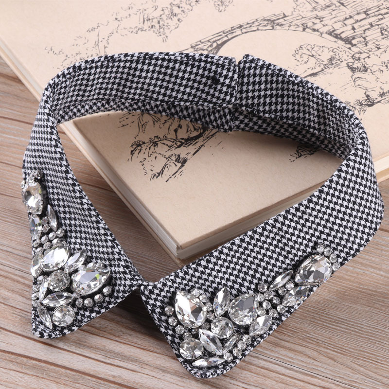 Decorative Collar Fake Collar Hand-drilled Women's Small Round Collar Fake Collar Collar Collar Collar