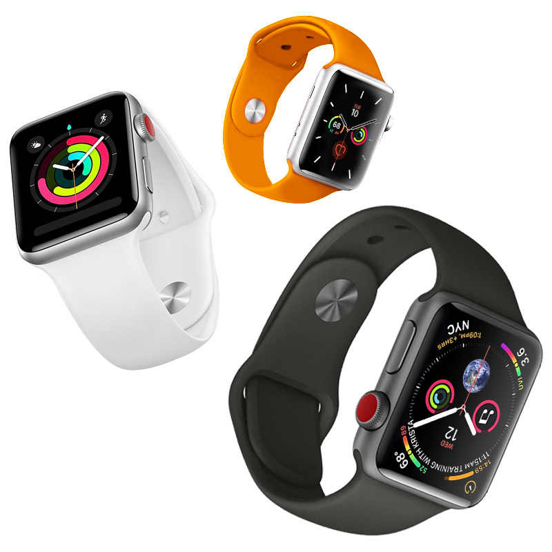 Original For Apple Watch Silicone Loop Band Strap 42mm 38mm Iwatch 5 4 3 2 1 Link Bracelet Magnetic Buckle