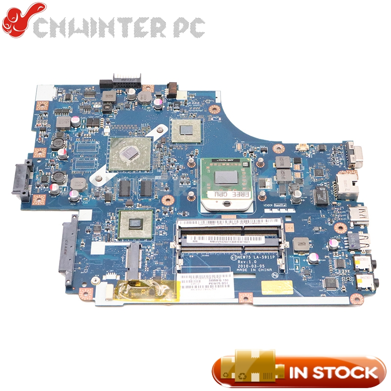 NOKOTION For Acer Aspire 5551G 5552 5552G Laptop Motherboard NEW75 LA-5911P MBWVE02001 MB.WVE02.001 DDR3 HD6470M Free Cpu