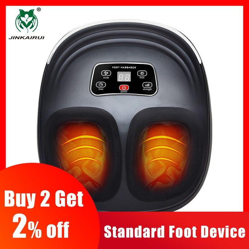Máquina elétrica da massagem do pé da compressão de ar de amassar jinkairui para o infravermelho dos cuidados de saúde com aquecimento e terapia anti-stress