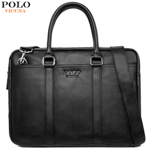 VICUNA POLO de moda de cuero suave para hombre bolso de hombro de gran capacidad portátil maletín bolsa para hombre Cruz cuerpo Sling bolso