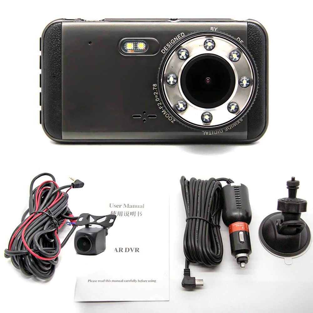 """Bluavido 4 """"ips Full HD 1296P Автомобильный видеорегистратор ADAS WDR с функцией ночного видения Автомобильный видеорегистратор Регистратор 1080P Даш камера 170 градусов с двумя объективами"""
