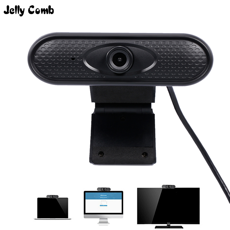 Jelly Comb 1080P Webcam Web Camera With Microphone Noise Reduct Manul Foucus Widescreen Video Calling Webcam Desktop Laptop