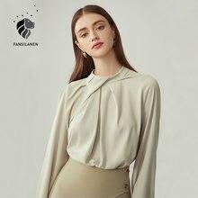 Женская офисная блузка fansilanen элегантная шифоновая с длинным