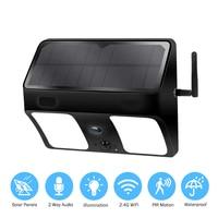 Surveillance Camera Outdoor Wireless IP Camera 1080P WiFi Wide Angle Solar Battery Wall Light Ip66 Waterproof Camera For Garden
