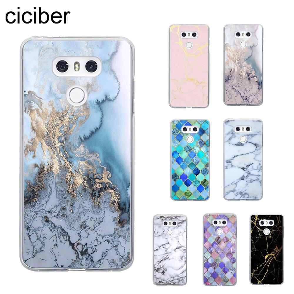 Colored Marble Cover For LG G7 G6 G5 V40 V35 V30 V20 Thinq Phone Case For LG K8 K10 2017 2018 K9 K11 Plus Cover Soft TPU