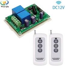 433MHz האלחוטי אוניברסלי מתג DC 12V 2CH RF ממסר מקלט מודול 500m משדר עבור מנוע חשמלי