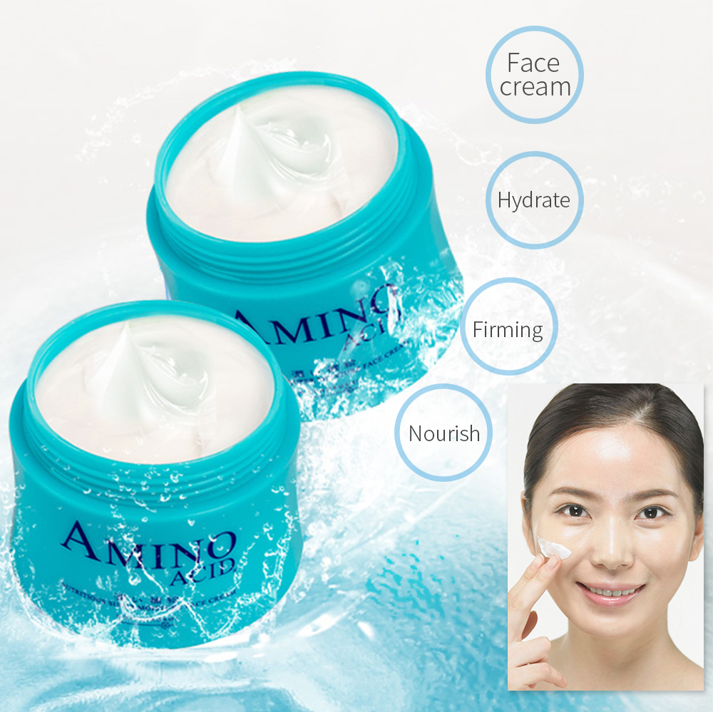 HANAJIRUSHI Amino Acid Face Cream Moisturizing Day Cream Nourish Night Cream Firming Skin Cream 80g