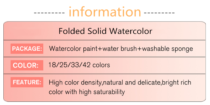 Superior 18253342colors Solid Watercolor Paint Set With Water Brush Pen Portable Water color Pigment For Drawing Art Paint (2)