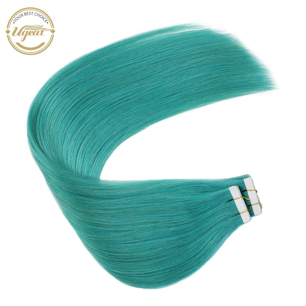 Ugeat Tape Hair Extension Real Human Hair Machine Remy Natural Straight 12-22inch Skin Weft Seamless Hair 10pc/20pc/40pc