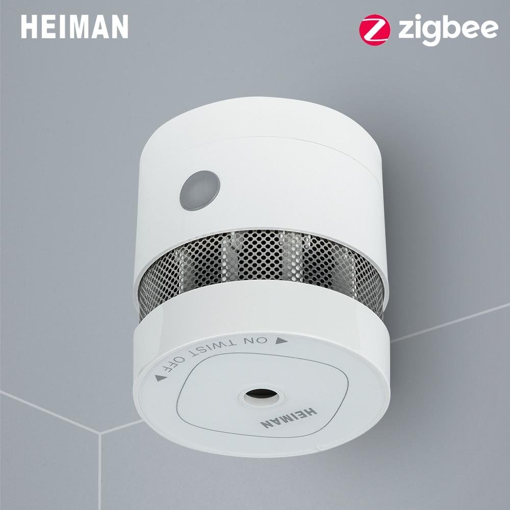 HEIMAN Zigbee 3,0 пожарная сигнализация детектор дыма Умный дом система 2,4 ГГц Высокая чувствительность датчик безопасности Бесплатная доставка