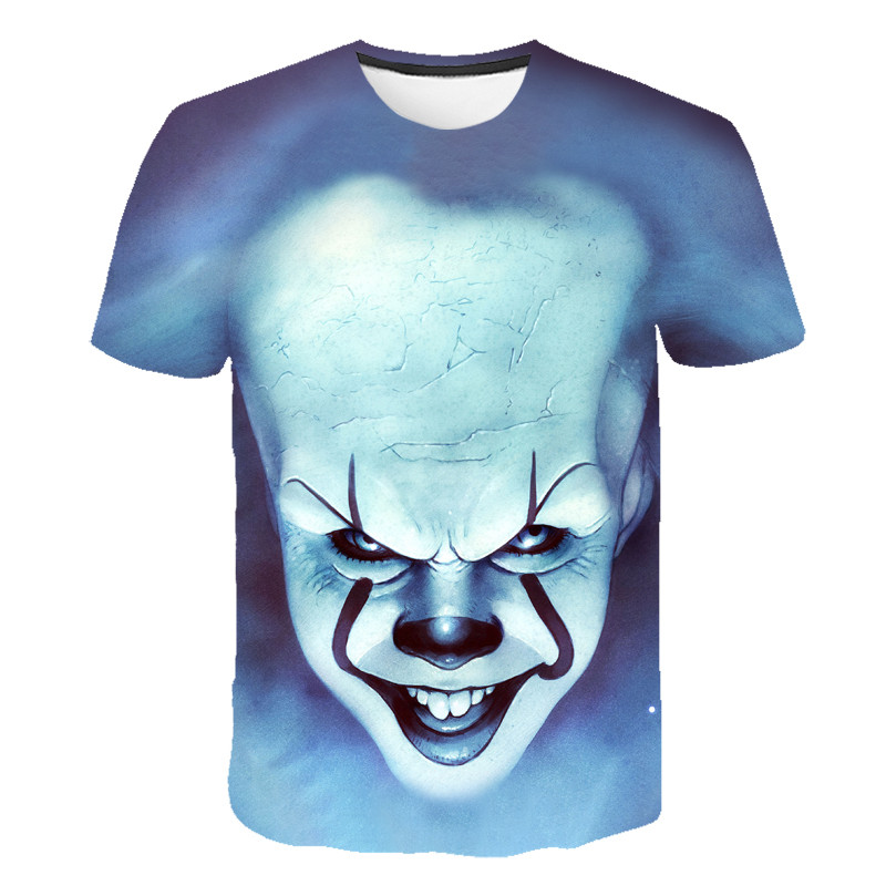 NEW Horror Movie It Clown Joker 3D Print Tshirt Men / Women Hip Hop Streetwear Tee T-shirt 90s Boys Cool Clothing Man Top Horror