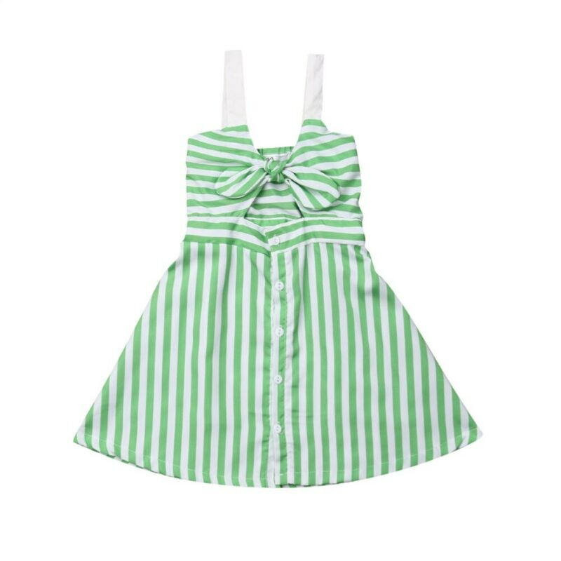 Toddler Kids Baby Girl Striped Tutu Dress Children Summer Vestidos Bowkot Sundress Princess Wedding Party Dresses