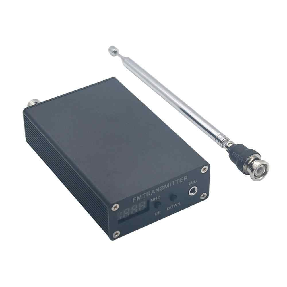 TZT 1mW PLL stéréo FM MP3 émetteur Mini Station de Radio 87-109MHz avec adaptateur d'alimentation antenne bouclier fil