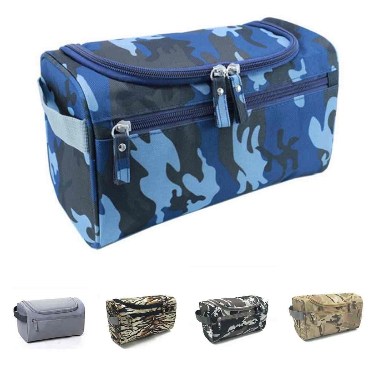 Camouflage Men Hanging Cosmetic Bag Business Makeup Case Women Travel Make Up Zipper Organizer Pouch Toiletry Wash Bath Kit New