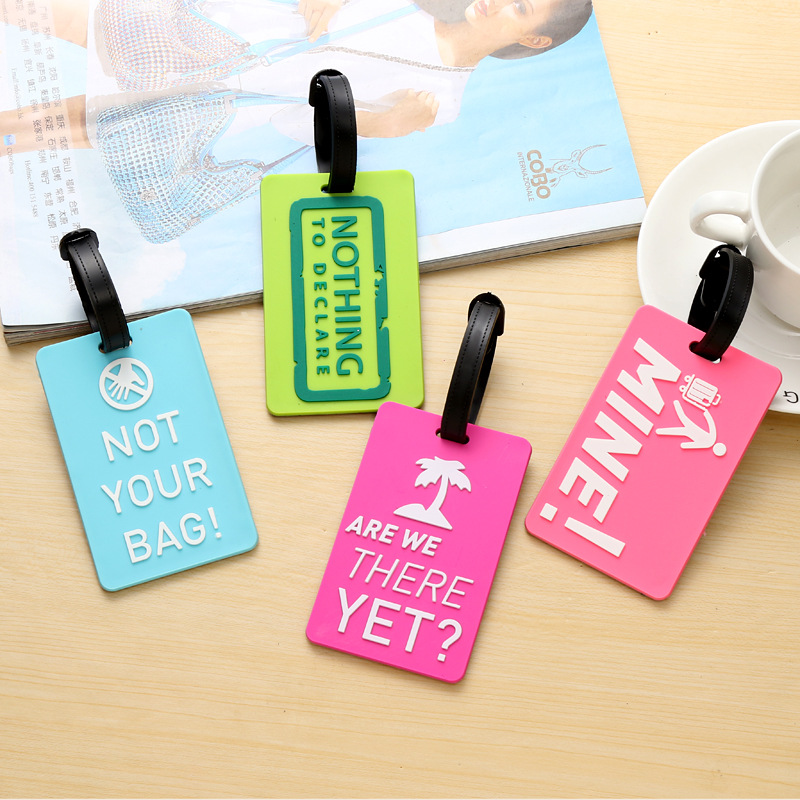 Suitcase Luggage Portable Tags Identifier Label ID Address Holder Environmental Protection Cover Luggage Tag Travel Accessories