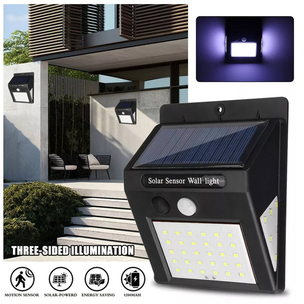 1-4pcs 40 LED Solar Light Outdoor Solar Lamp PIR Motion Sensor Wall Light Waterproof Solar Sunlight Powered Garden Street Lights
