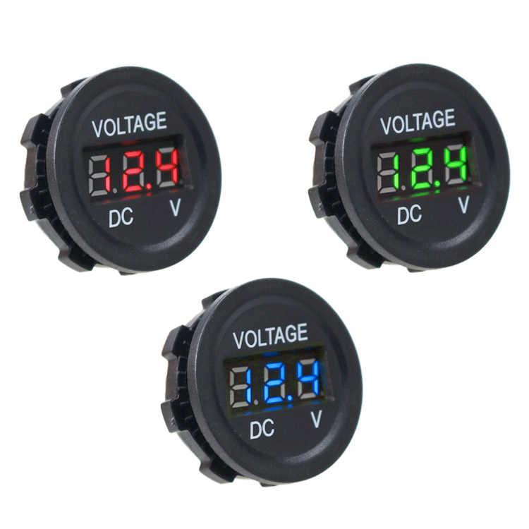 Mini voltímetro Digital de la motocicleta del coche del barco a prueba de agua DC6V-30V Panel LED voltímetro de voltaje probador de la pantalla del Monitor