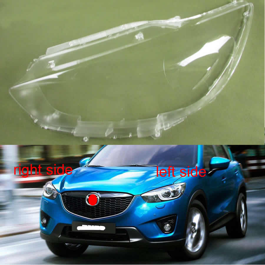 For Mazda CX-5 CX5 2013 2014 2015 2016 Lamp Shell Headlight Cover Glass Lampshade Transparent Shade Headlamp Cover Lens Mask