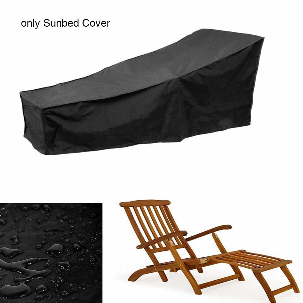 Oxford Fabric Anti-aging Waterproof Durable Outdoor Garden Sunbed Cover Protector Sunscreen Patio Dustproof Chair Sun Lounger