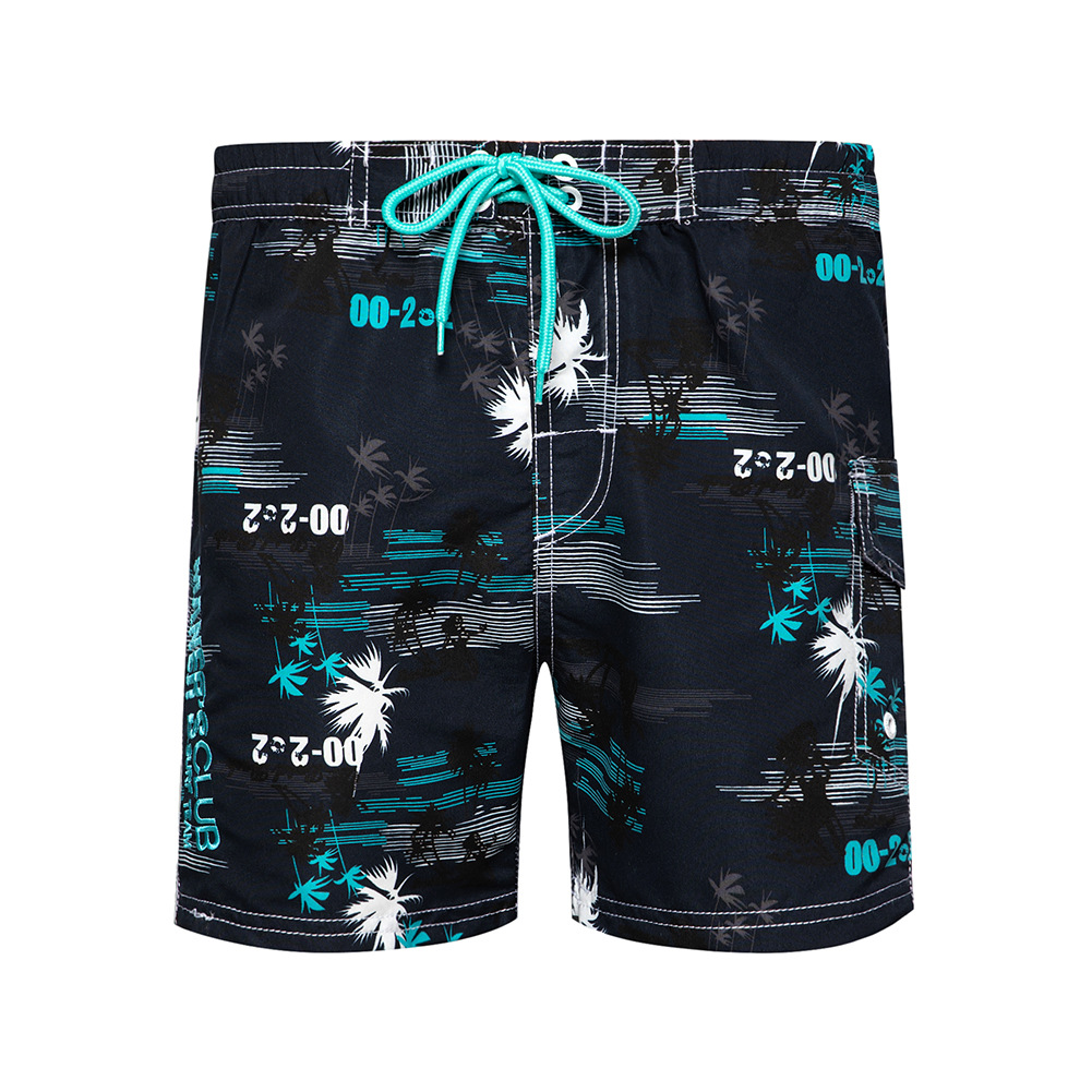 Summer Mens Board Shorts Printed Casual Qiuck Drying Beach Short Pants For Men Plant Printed Fashion Mens Shorts