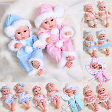 30cm adorável bonecas do bebê reborn cheio de silicone macio realista reborn corpo do bebê lifelike vivo bebês brinquedos para meninas crianças presente bonecas