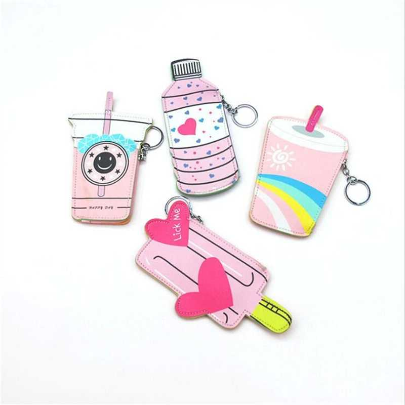 Monedero creativo Mini monedero de diseño Tarjeta de moneda para niños pequeño bolso llavero bolso para niñas monedero de dibujos animados divertido bebida moneda bolsa
