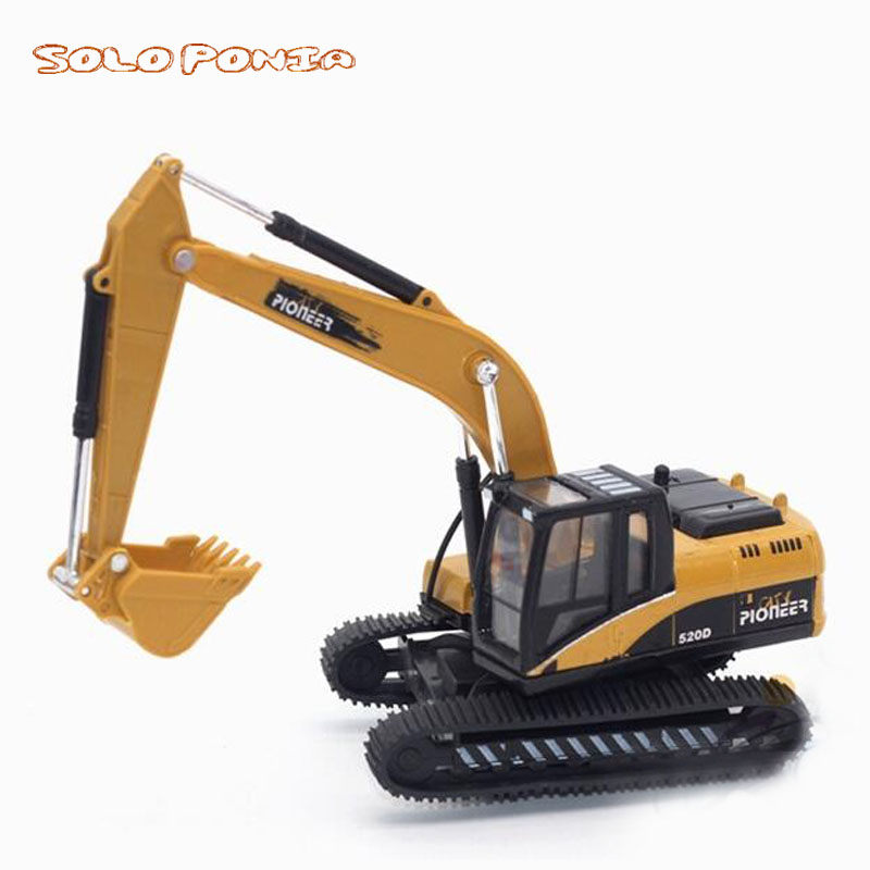 150 veículos de engenharia de simulação alta, brinquedos modelo de liga, escavadeira de metal, veículo de construção de metal diecast, presente para meninos