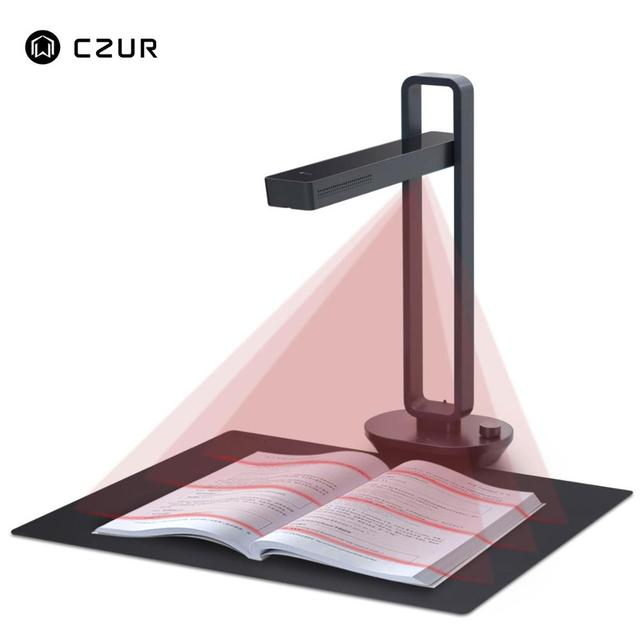 CZUR Aura Pro Portable Book Scanner Document Max A3 Size with Smart OCR Led Table Desk Lamp for Family Home Office