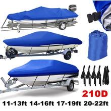 11-22ft Trailerable 210D Чехлы для лодок водонепроницаемый серый Солнцезащитный УФ-протектор сверхмощный катер для катания на лодке покрытие для рыбалки лыжный D45