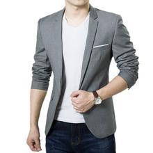 HOT SALE !!! Men's Slim Formal Business Suit Coat One Button Lapel Long Sleeve Pockets Top